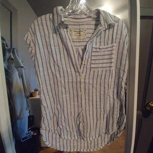 Abercrombie stripped button down shirt.